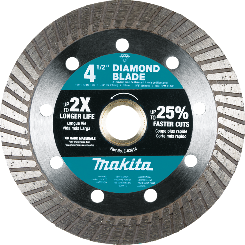 "4-1/2"" Diamond Blade, Turbo, Hard Material (Pack of 100)"
