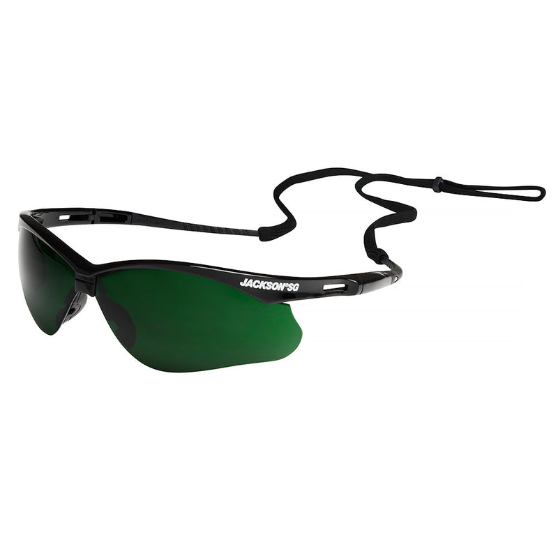Safety Glasses with Black Frame and IR 5.0 Lens (Case of 12 Pcs)