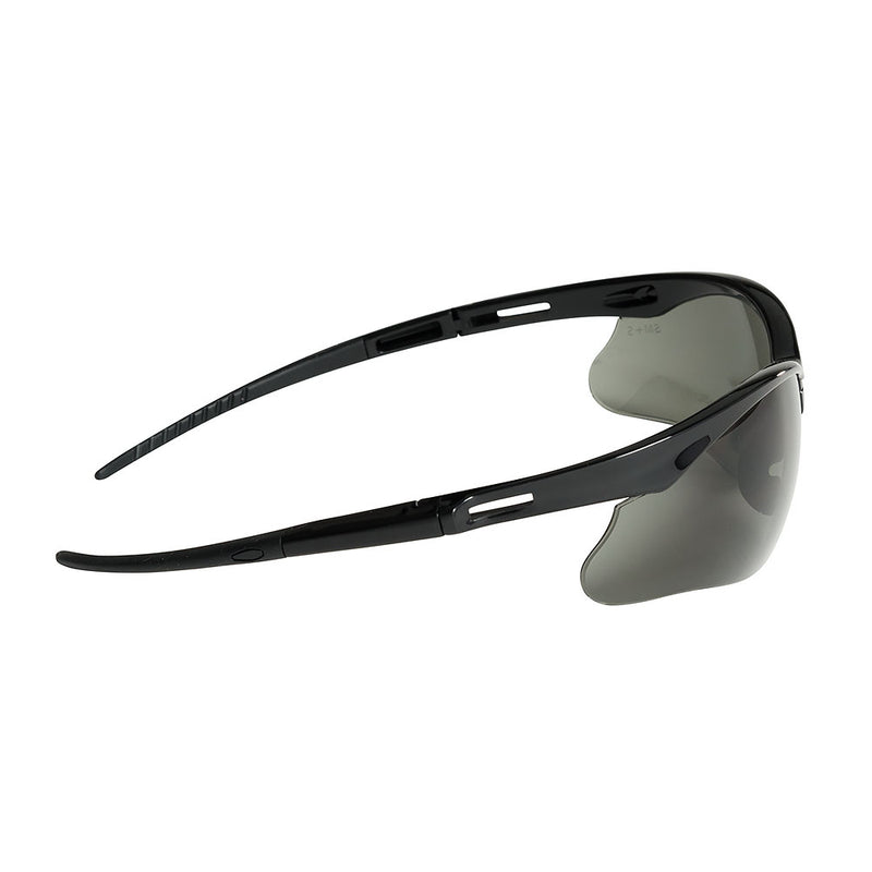Safety Glasses with Black Frame and Smoke Mirror Anti-Fog Lens (Case of 12 Pcs)