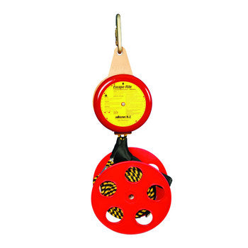 Peakworks Escape-Rite Rescue and Descent System, 180 ft. Polyester Cable, 400 lb. Capacity, 3 ft./s Descent Rate, Red/Yellow