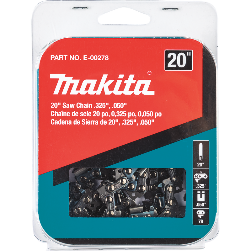 "Makita E-00278 20"" Saw Chain, .325"", .050"" (Pack of 6)"