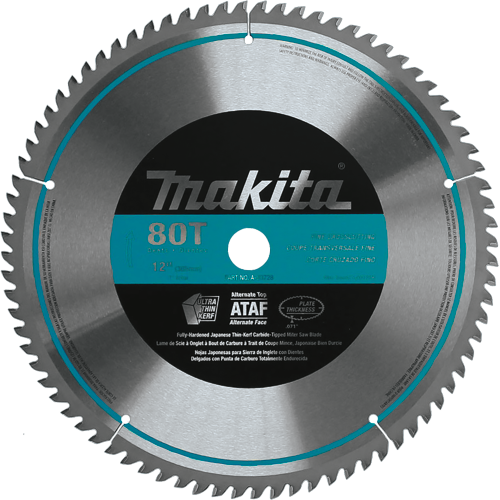 "Makita A-93728 12"" 80T Micro-Polished Miter Saw Blade(Pack of 10)"