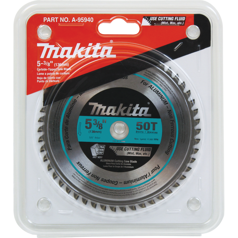 "5-3/8"" 50T Carbide-Tipped Ultra-Thin Kerf Saw Blade, Aluminum (Pack of 50)"