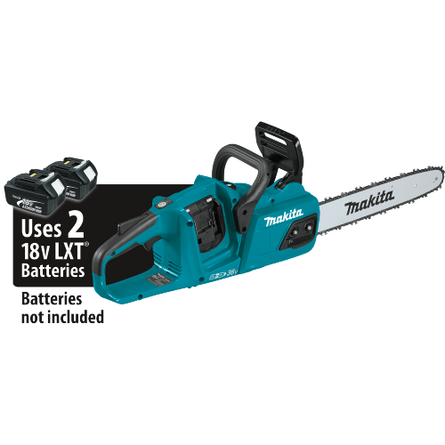 "Makita XCU07Z 18V X2 (36V) LXT® Lithium‑Ion Brushless Cordless 14"" Chain Saw, Tool Only"