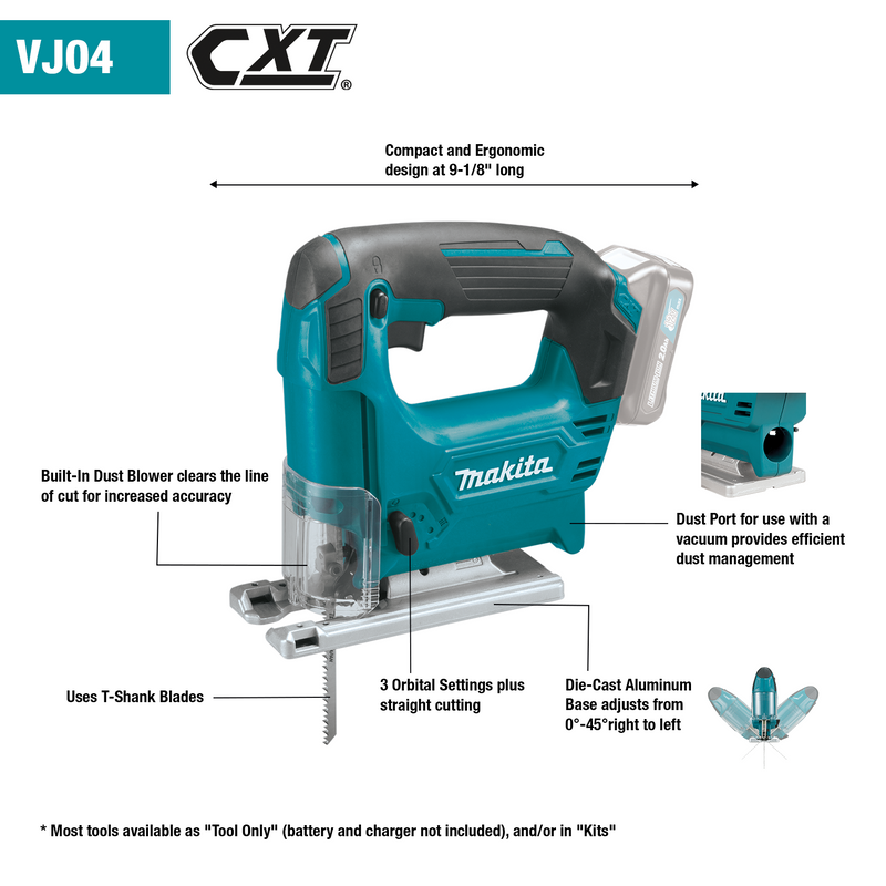 12V max CXT® Lithium‑Ion Cordless Jig Saw, Tool Only