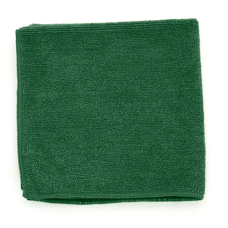 "Adenna 2502-DWG-DZ Microfiber Towel 12 x 12"" Dark Green-330 GSM ( Case of 4 Pack )"