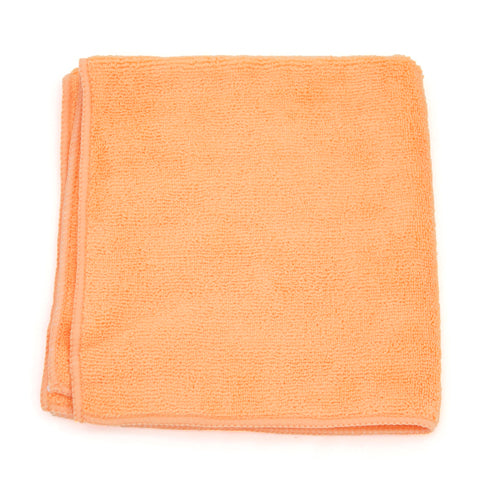 "Adenna 2512-OR-DZ Micro Fiber Towel 12x12"" Orange, 300 GSM (Case of 5 Pack)"