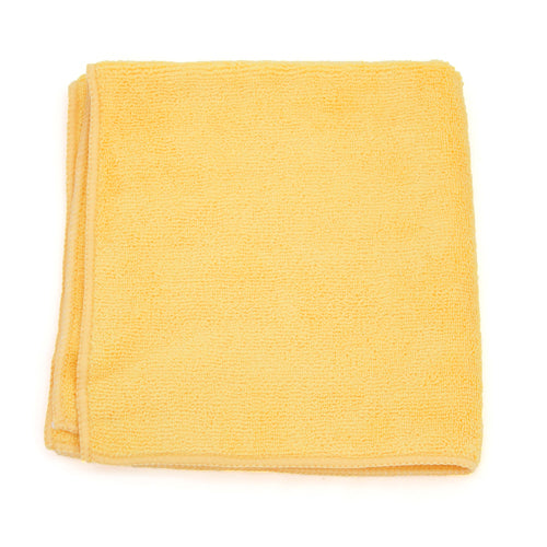 PREMIUM MICROFIBER TOWEL 16X16 GOLD, 360 GSM ( Micro Case of 18 Pack )