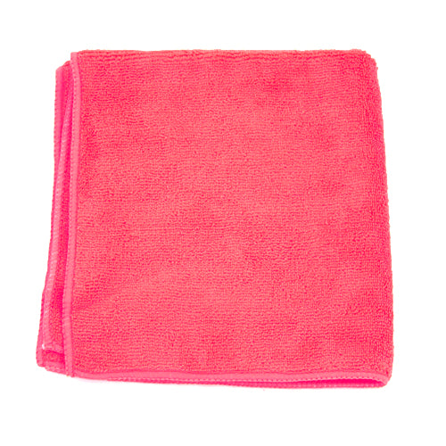 ADENNA 2502-RED-DZ MICROFIBER TOWEL 16X16 RED 300 GSM ( Micro Case of 18 Pack )
