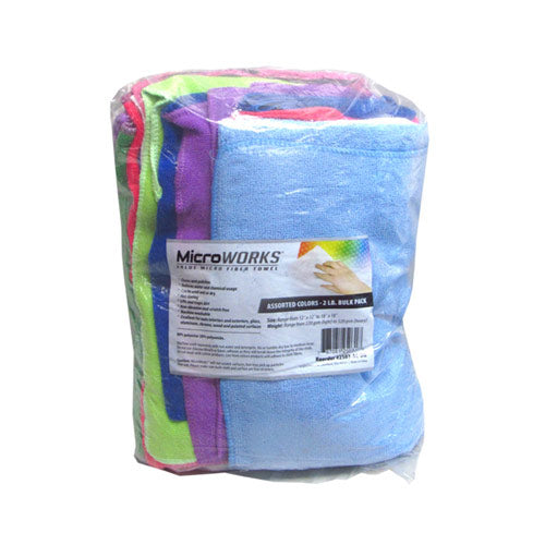 TOWEL ASSORTED COLOR BULK PACK ( Case of 3 Bags )