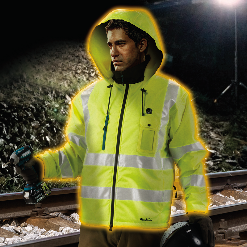 18V LXT® Lithium-Ion Cordless High Visibility Heated Jacket (Jacket Only) (Pack of 5)