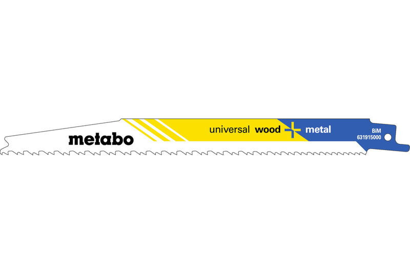 "Metabo 631915000 8"" .050 Progsive Tooth Recip Blade, (Pack of 2)"