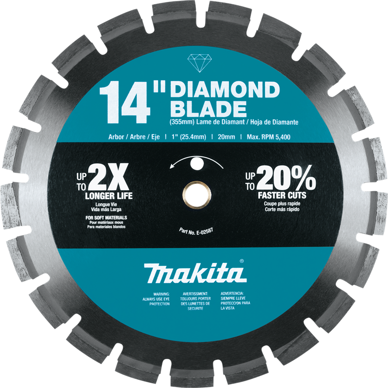 "14"" Diamond Blade, Segmented, Soft Material"
