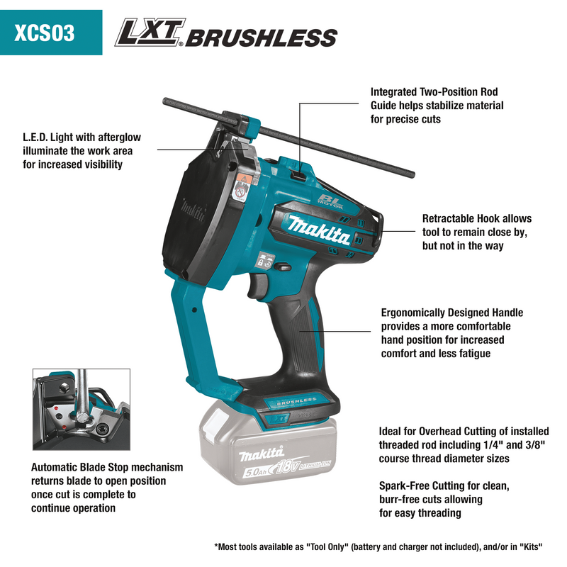 18V LXT® Lithium‑Ion Brushless Cordless Threaded Rod Cutter, Tool Only (Box of 4)
