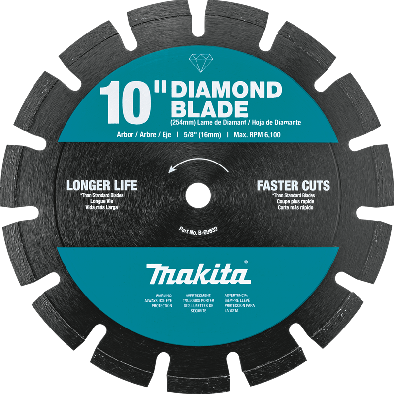 "Makita B-69652 10"" Diamond Blade, Segmented, Dual Purpose (Pack of 20)"
