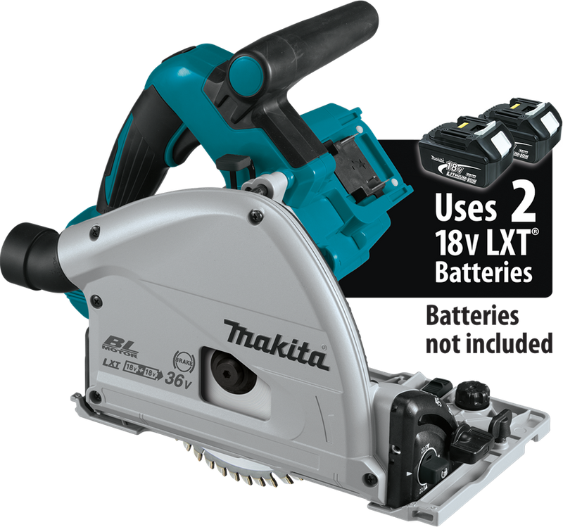 "18V X2 (36V) LXT® Lithium‑Ion Brushless Cordless 6‑1/2"" Plunge Circular Saw, AWS™, Tool Only (Pack of 2)"