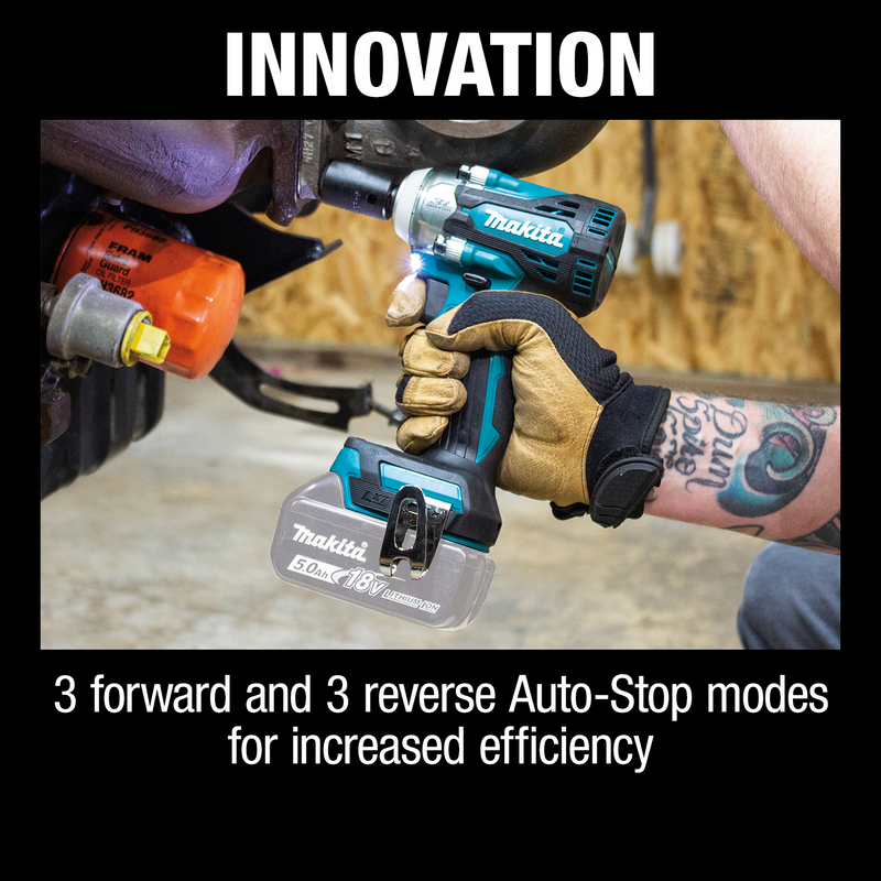 "18V LXT® Lithium‑Ion Brushless Cordless 4‑Speed 1/2"" Sq. Drive Impact Wrench w/ Detent Anvil, Tool Only (Pack of 4)"