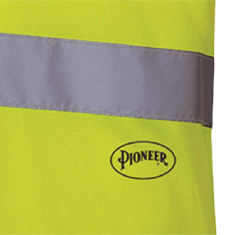 Hi Vis Safety T Shirt for Men - Short Sleeve with Pocket- Reflective Tape for ANSI Class 2 Work - Green (Case Of 24 Pcs)