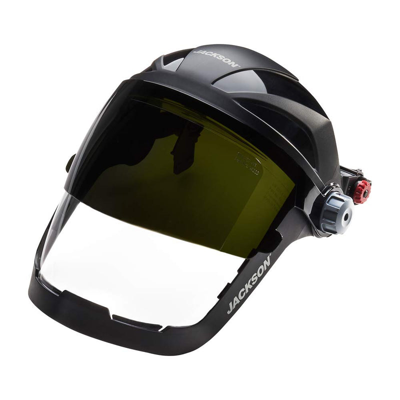 Jackson Safety SH 8 HHIS QUAD 500™ Face Protection Face Shield, Shade 8 IR Welding Flip Visor, Universal Adapter (Case of 4 Pcs)