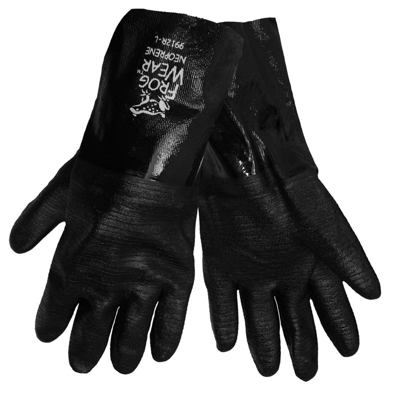 Global Glove 9912R Chemical Resistant Supported Neoprene, PVC and Nitrile Gloves - Large (Case of 72 Pairs)