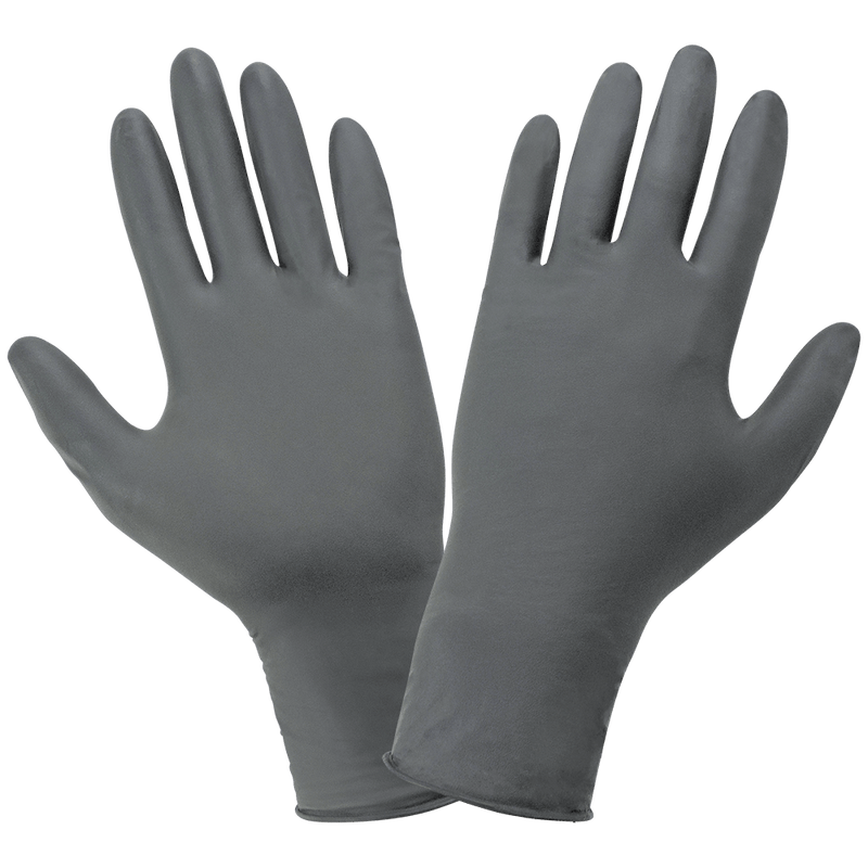 Global Glove 600F Powder-Free Flock-Lined 6-Mil Nitrile Examination Disposable Gloves  (10 Box/Case)