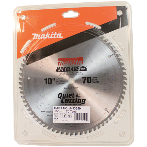 "Makita A-93550 10"" 70T Micro Polished Miter Saw Blade(Pack of 20)"