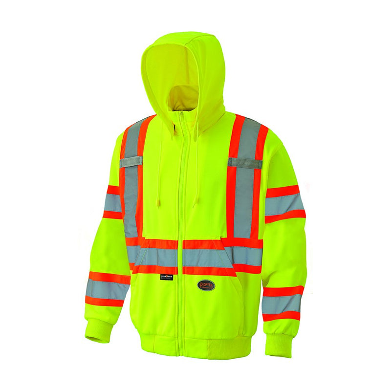 Hi-Vis Micro Fleece Zip Hoodie Green (Case Of 12 Pcs)