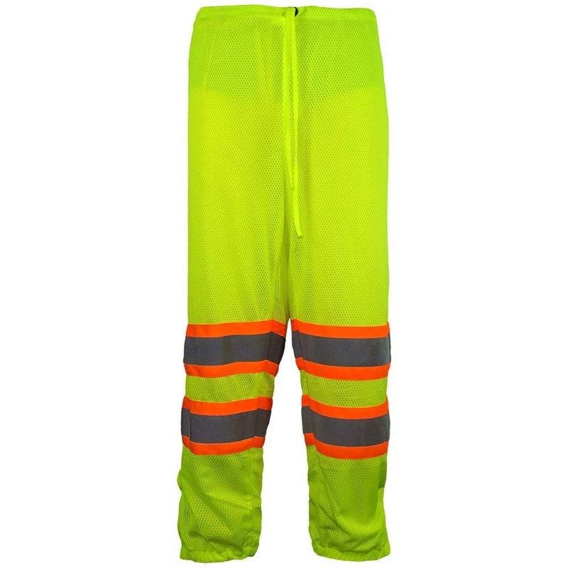 Global Glove GLO-2P HV High-Visibility Yellow/Green Mesh Safety Pants (Case of 25)