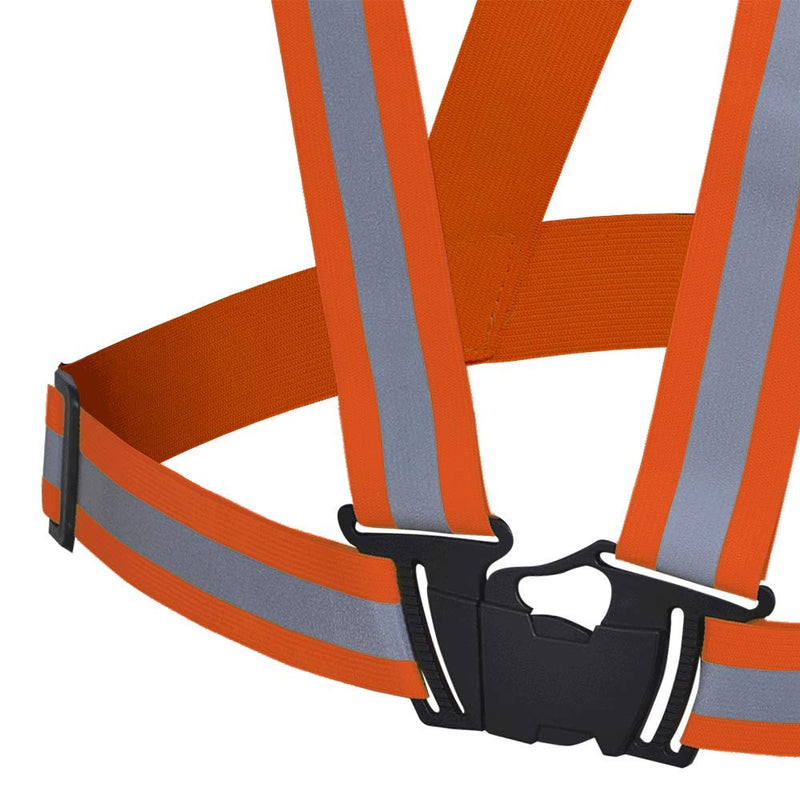 "Pioneer V1041050U Hi Vis Safety Sash Reflective Belt Vest – 1.5"" High-Visibility - Orange (Case Of 25 Pcs)"