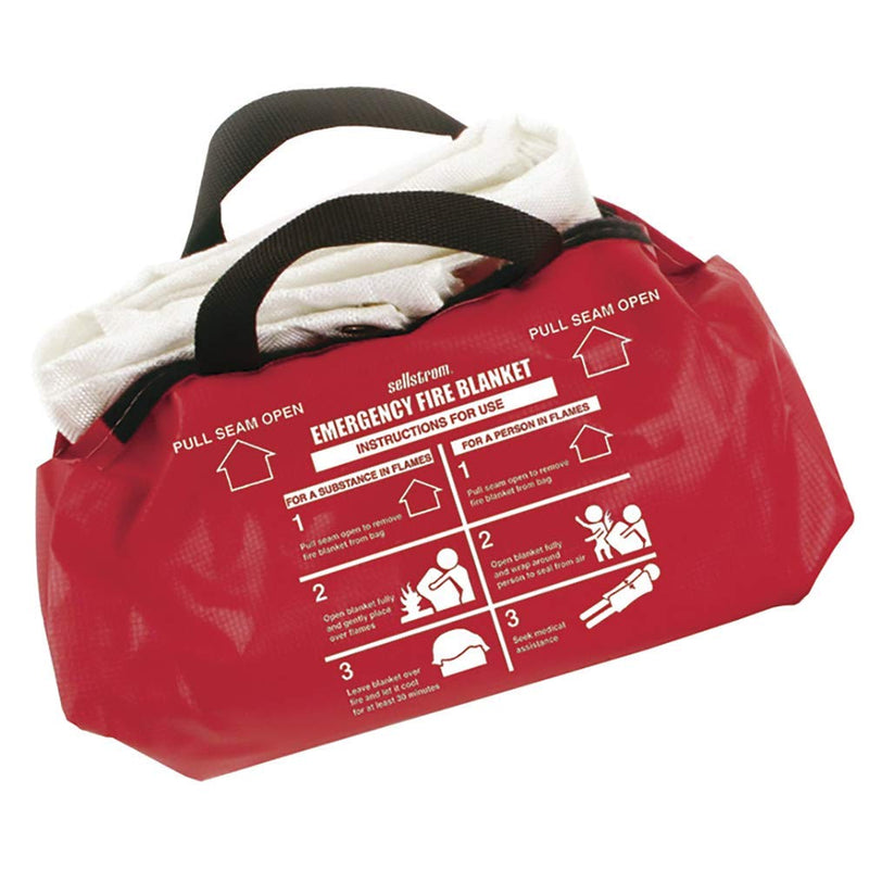 Surewerx S97452 White Fiberglass Fire Blanket with Duffel Bag