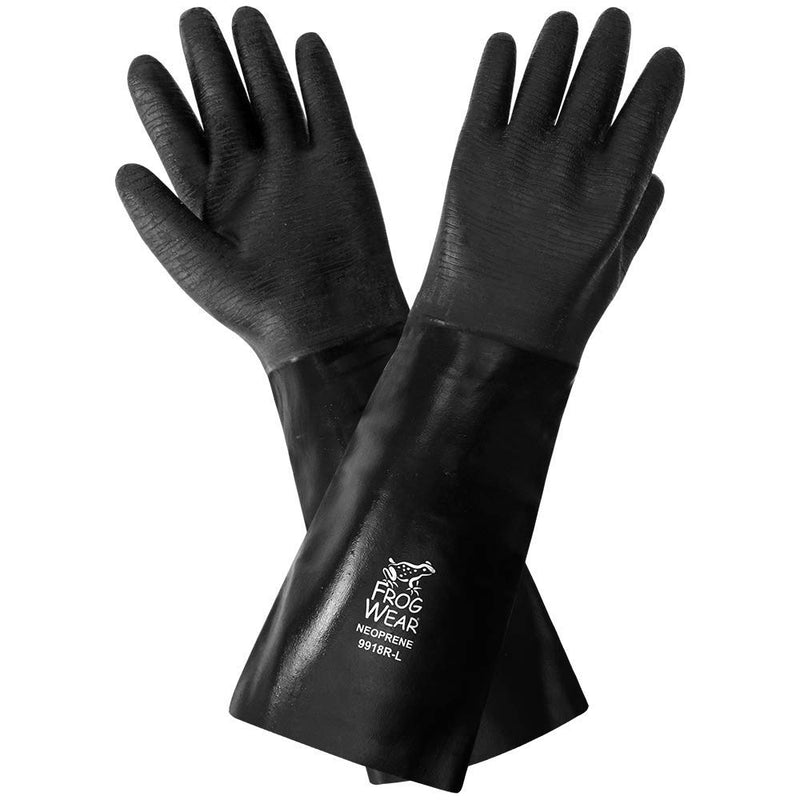 Global Glove 9918R Chemical Resistant Supported Neoprene, PVC and Nitrile Gloves - One Size (Case of 36 Pairs)