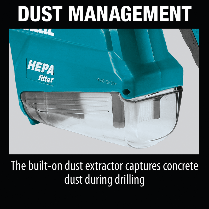 "Makita HR2651 1"" AVT® Rotary Hammer, accepts SDS‑PLUS bits, w/ HEPA Dust Extractor (Pistol‑grip) (Pack of 2)"