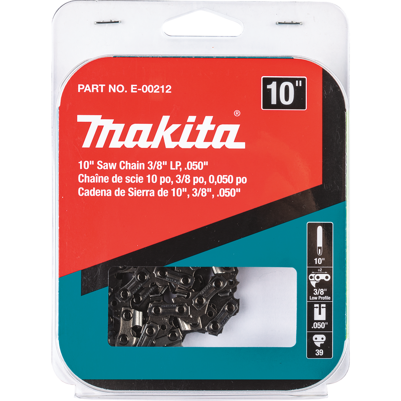 "Makita E-00212 10"" Saw Chain, 3/8"" LP, .050"" (Pack of 6)"