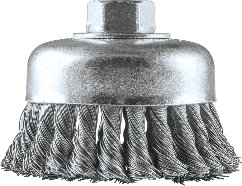 "4"" Knot Wire Cup Brush, 5/8""‑11 (Pack of 20)"