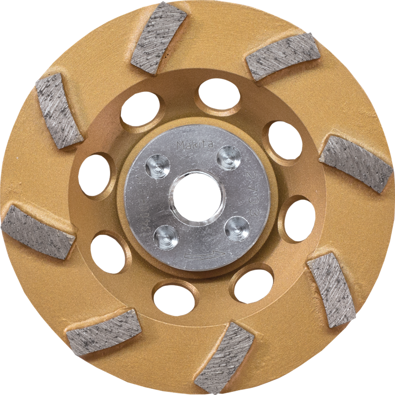 "Makita A-96403 4‑1/2"" Low‑Vibration Diamond Cup Wheel, 8 Segment Turbo (Pack of 40)"