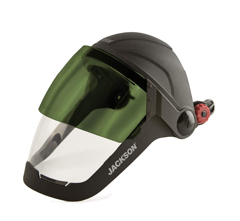 QUAD500 Face Shield with Shade 5 IR Welding Flip Visor, Universal Adapter (Case of 4 Pcs)