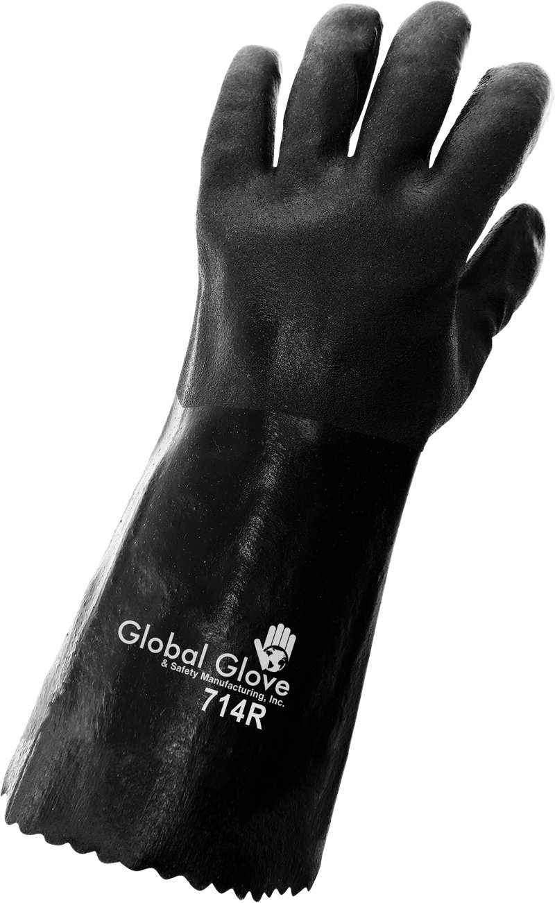 Global Glove 714R Chemical Resistant Supported Neoprene, PVC and Nitrile Gloves - XLarge (Case of 72 Pairs)