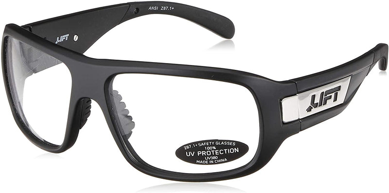 Lift Safety EBE-18MKC - BANSHEE Safety Glasses (Matte Black/Clear) (Cases of 6 Packs)