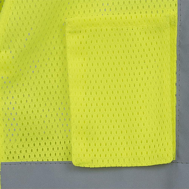 Pioneer Hi-Vis Polyester Mesh Safety Vest (Case Of 25 Pcs)