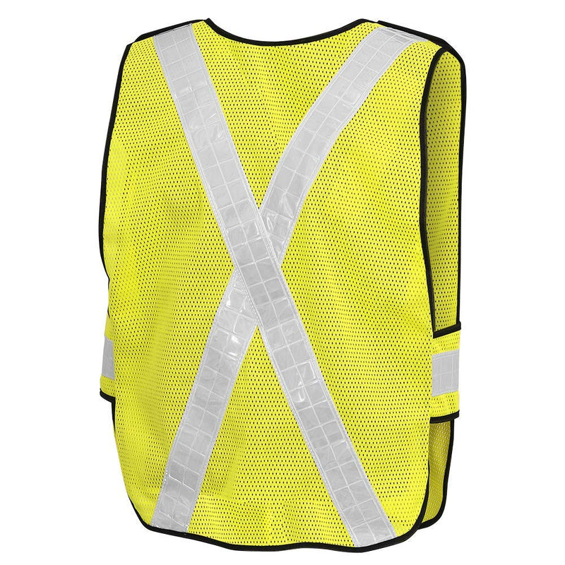 Pioneer V1030460U-O/S High Visibility Mesh Safety Vest with PVC Reflective Tape (Case Of 25 Pcs)