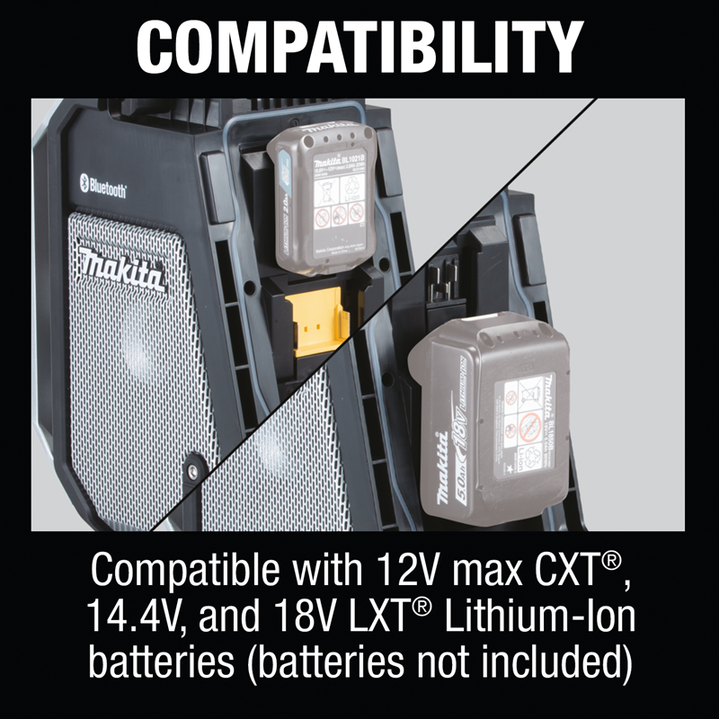 18V LXT® / 12V max CXT® Lithium‑Ion Cordless Bluetooth® Job Site Radio, Tool Only (Pack of 2)