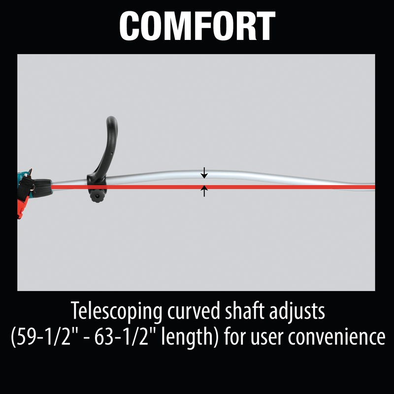 18V LXT® Lithium‑Ion Brushless Cordless Curved Shaft String Trimmer, Tool Only