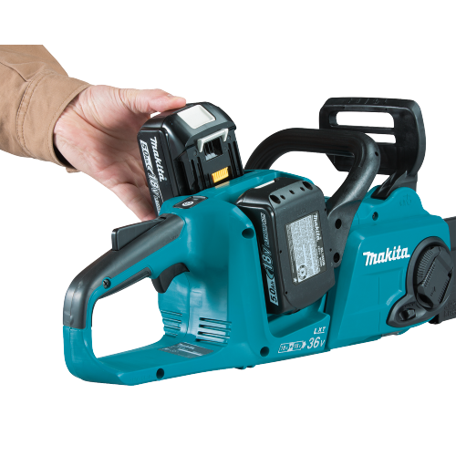 "Makita XCU04PT1 18V X2 (36V) LXT® Lithium‑Ion Brushless Cordless 16"" Chain Saw Kit with 4 Batteries (5.0Ah)"