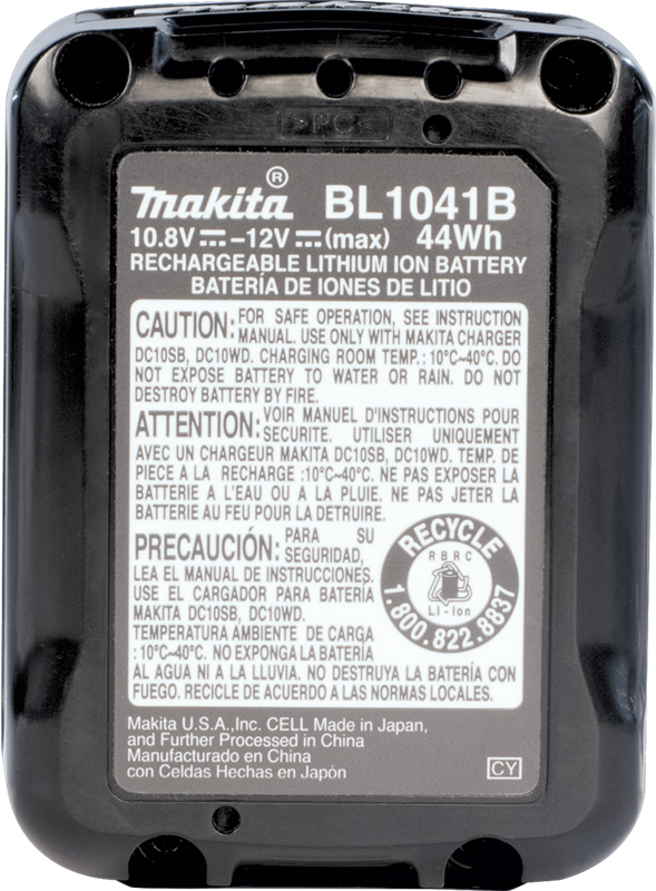 Makita BL1041B max CXT® Lithium‑Ion 4.0Ah Battery (Pack of 18)