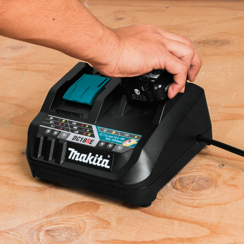 Makita DC18RE 18V LXT® / 12V max CXT® Lithium‑Ion Rapid Optimum Charger (Pack of 5)