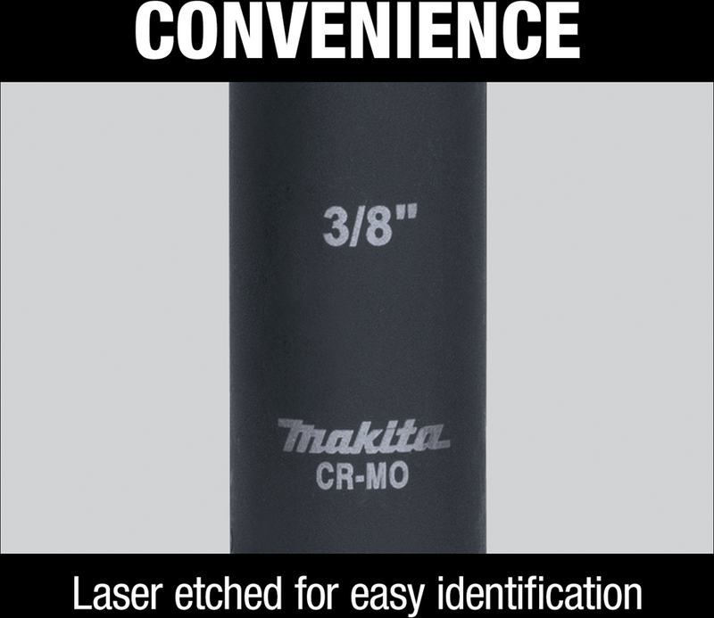 "Makita A-96291 3/4"" Deep Well Impact Socket, 1/2"" Drive (Pack of 72)"