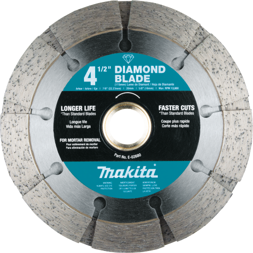 "Makita E-02680 4‑1/2"" Dual Sandwich Diamond Tuck Point Blade (Pack of 50)"
