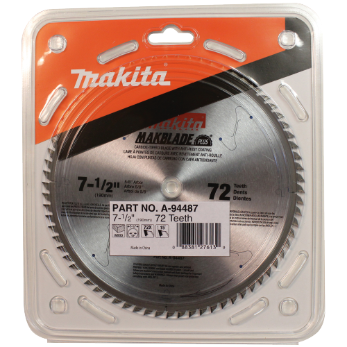 "Makita A-94487 7-1/2"" 72T Carbide-Tipped Miter Saw Blade(Pack of 50)"