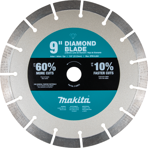 "Makita E-02973 9"" Ultra-Premium Plus Diamond Blade, Segmented, General Purpose (Pack of 10)"