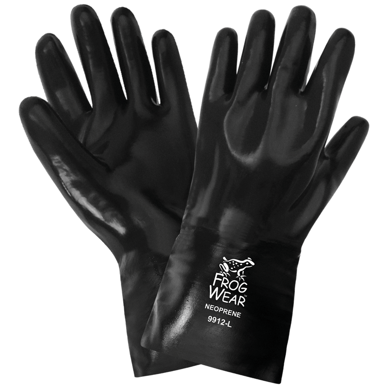 Chemical Resistant Supported Neoprene, PVC and Nitrile Gloves - Large (Case of 72 Pairs)
